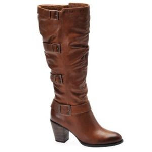 """Sofft"" Colorado tall zipper boot in Tobacco"